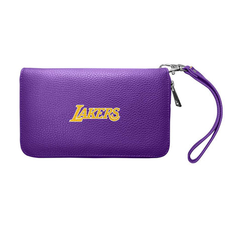 Los Angeles Lakers Zip Organizer Wallet Pebble (Purple)