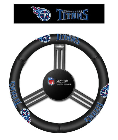NFL Tennessee Titans Leather Steering Wheel Cover
