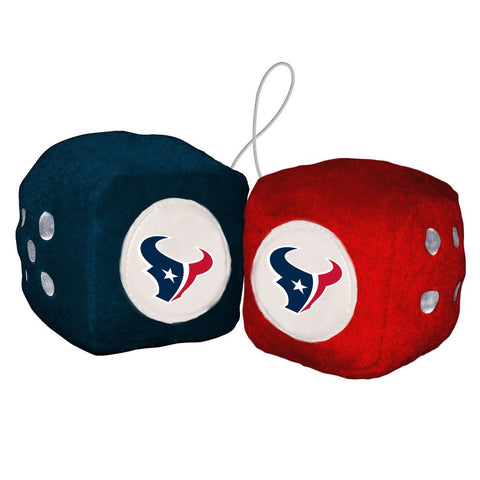 NFL Houston Texans Fuzzy Dice