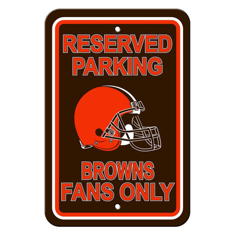 NFL Cleveland Browns Reserved Parking Sign