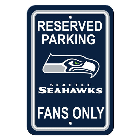 NFL Seattle Seahawks Reserved Parking Sign