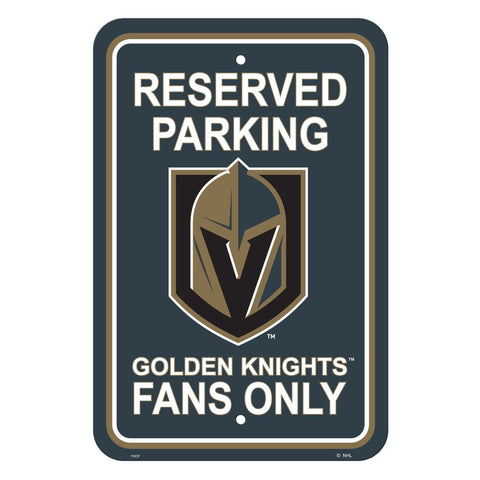 NHL Vegas Golden Knights Reserved Parking Sign