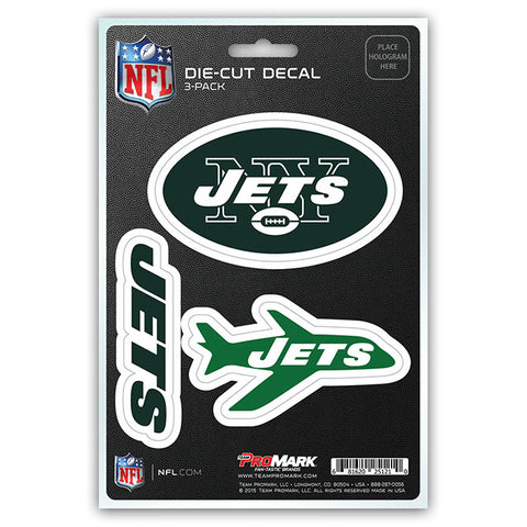 New York Jets Decal Die Cut Team 3 Pack