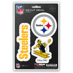 Pittsburgh Steelers Decal Die Cut Team 3 Pack