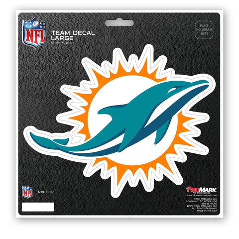 Miami Dolphins Decal 8x8 Die Cut