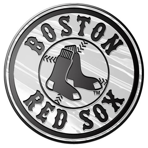 Boston Red Sox Auto Emblem - Silver - Round Logo