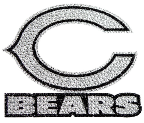 Chicago Bears Auto Emblem - Rhinestone Bling