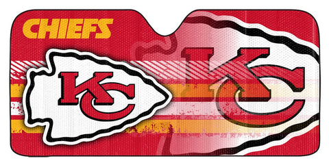 "Kansas City Chiefs Auto Sun Shade - 59""x27"""