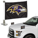 Baltimore Ravens Flag Set 2 Piece Ambassador Style