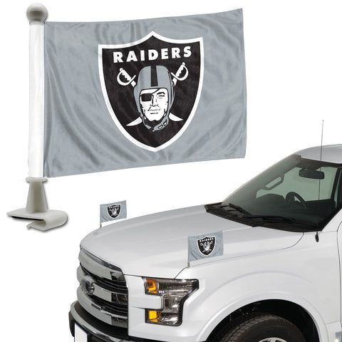 Oakland Raiders Flag Set 2 Piece Ambassador Style