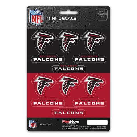 Atlanta Falcons Decal Set Mini 12 Pack