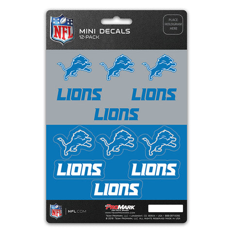 Detroit Lions Decal Set Mini 12 Pack