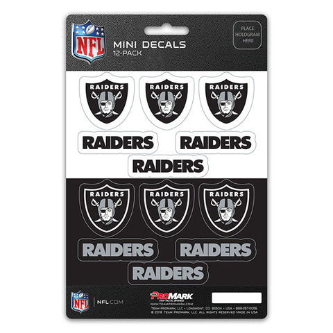 Oakland Raiders Decal Set Mini 12 Pack