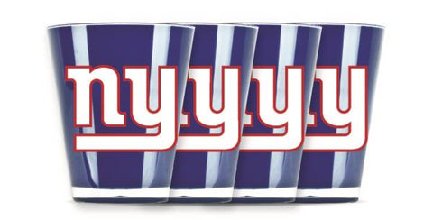 NEW YORK GIANTS INSULATED SHOT GLASS - 4PC/SET