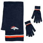 Denver Broncos Scarf and Glove Gift Set Chenille
