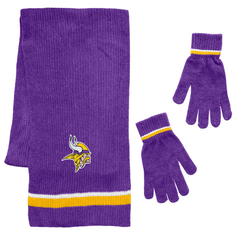 Minnesota Vikings Scarf and Glove Gift Set Chenille