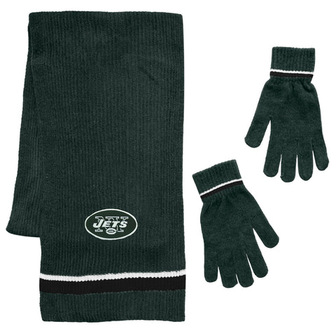 New York Jets Scarf and Glove Gift Set Chenille
