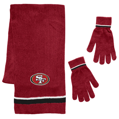 San Francisco 49ers Scarf and Glove Gift Set Chenille