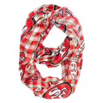 San Francisco 49ers Infinity Scarf - Plaid