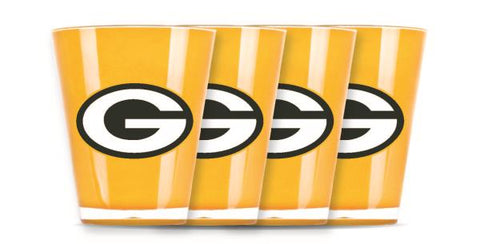 GREEN BAY PACKERS INSULATED SHOT GLASS - 4PC/SET
