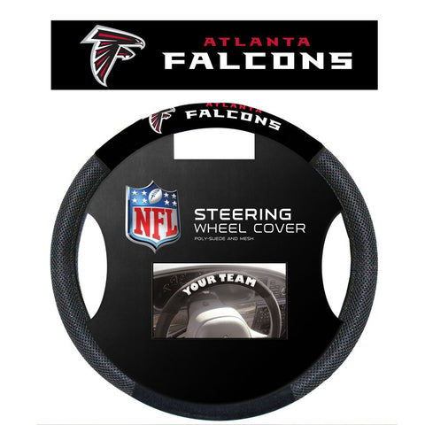 NFL Atlanta Falcons Poly-Suede Steering Wheel Cover