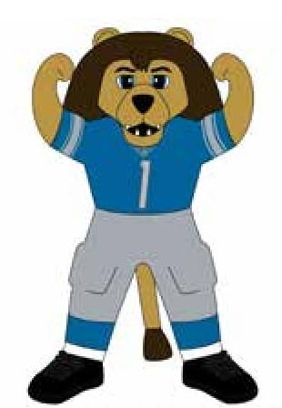Detroit Lions 7 Ft Tall Inflatable Mascot