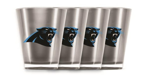 CAROLINA PANTHERS INSULATED SHOT GLASS - 4PC/SET