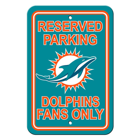 NFL Miami Dolphins Reserved Parking Sign