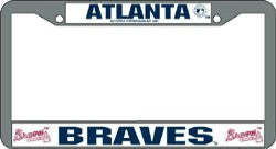 Atlanta Braves License Plate Frame Chrome