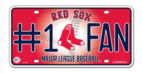 Boston Red Sox License Plate #1 Fan