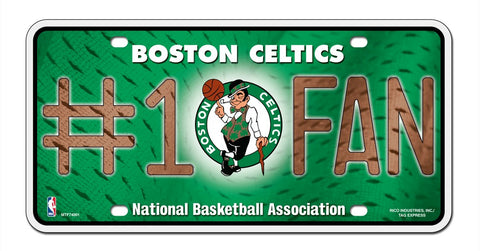 Boston Celtics License Plate #1 Fan