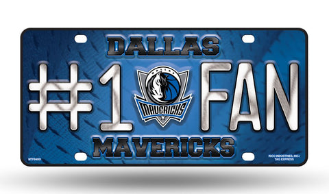 Dallas Mavericks License Plate #1 Fan