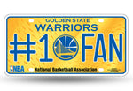 Golden State Warriors License Plate #1 Fan