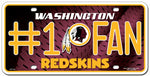 Washington Redskins License Plate #1 Fan