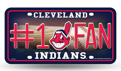 Cleveland Indians License Plate #1 Fan