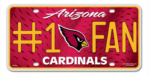 Arizona Cardinals License Plate #1 Fan