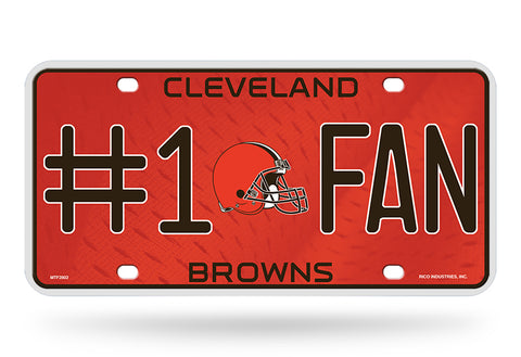 Cleveland Browns License Plate #1 Fan