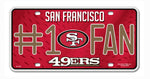 San Francisco 49ers License Plate #1 Fan