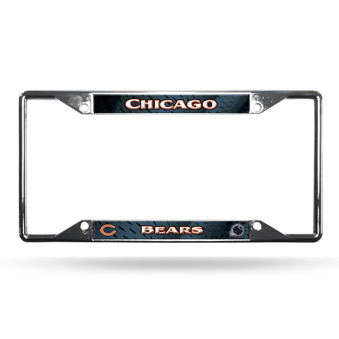 Chicago Bears License Plate Frame Chrome EZ View