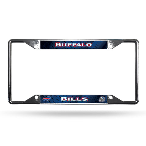 Buffalo Bills License Plate Frame Chrome EZ View