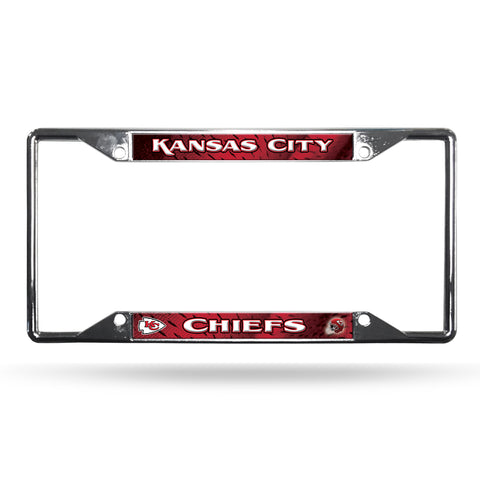 Kansas City Chiefs License Plate Frame Chrome EZ View