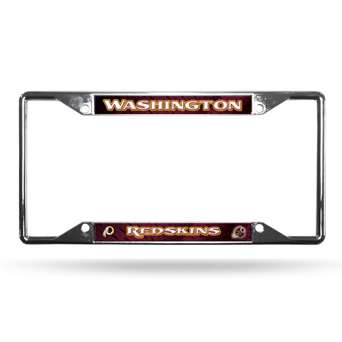 Washington Redskins License Plate Frame Chrome EZ View
