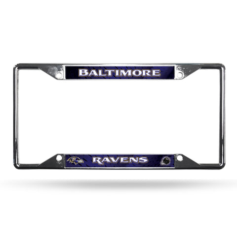 Baltimore Ravens License Plate Frame Chrome EZ View
