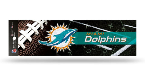 Miami Dolphins Decal Bumper Sticker Glitter