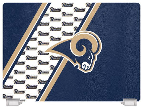 LOS ANGELES RAMS TEMPERED GLASS CUTTING BOARD