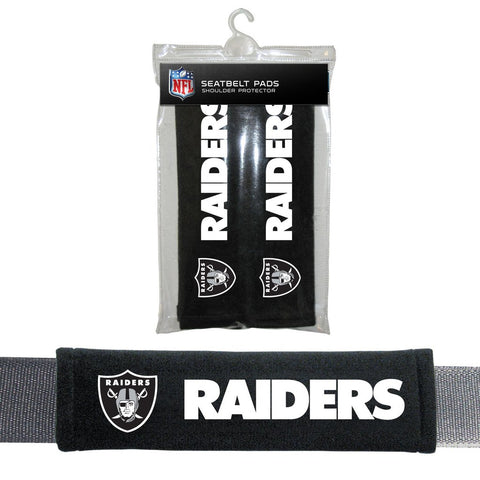 NFL Oakland Raiders Seat Belt Pads