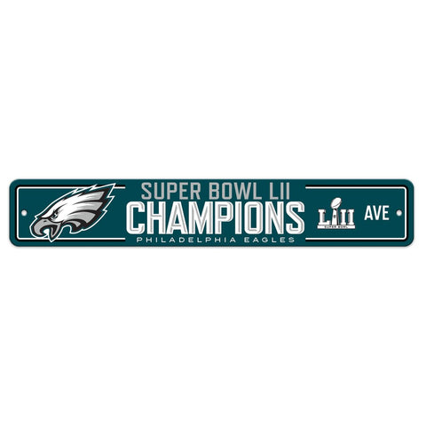 NFL Philadelphia Eagles Super Bowl LII Champions Street Sign
