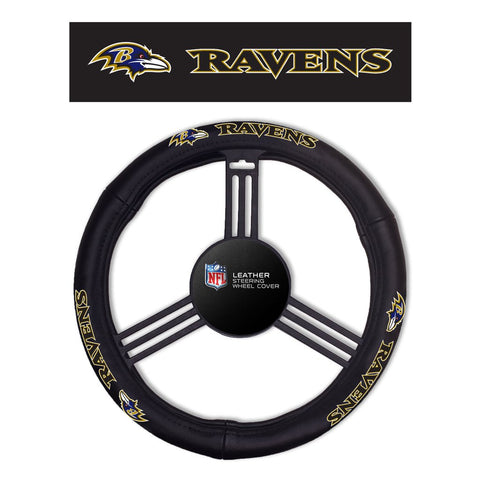 NFL Baltimore Ravens Leather Steering Wheel Cover