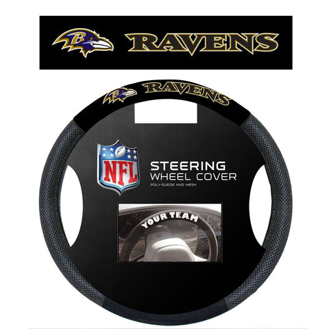 NFL Baltimore Ravens Poly-Suede Steering Wheel Cover