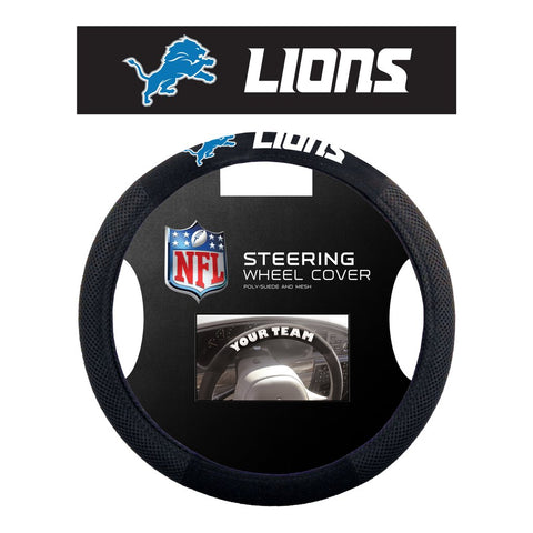 NFL Detroit Lions Poly-Suede Steering Wheel Cover